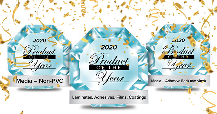 Drytac has won three 2020 PRINTING United Product of the Year awards, recognizing the innovative Drytac Protac AMP, Polar Street FX and SpotOn SynTac solutions.