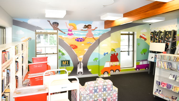 Exhibition display specialist icatchers has added fun and colour to children's libraries in and around Brisbane using Drytac ViziPrint and ReTac self-adhesive media, supplied by Shann.