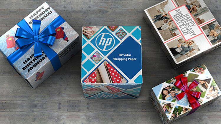 Print Service Providers can now create custom gift wrap with their HP PageWide XL, HP Latex or HP DesignJet Z series printers.