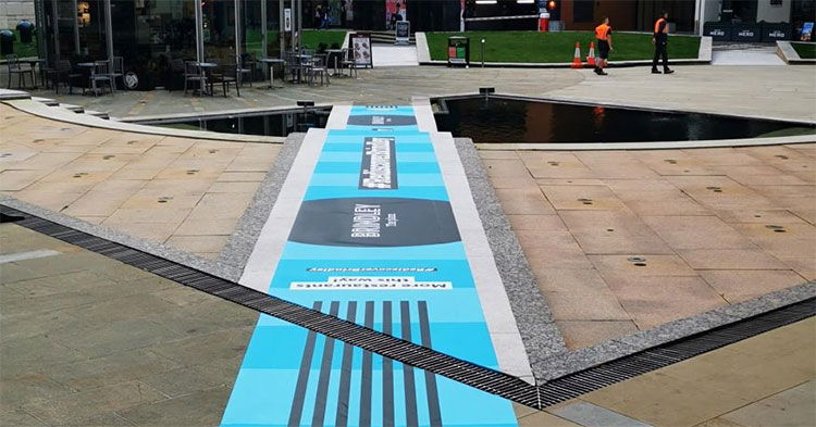 Ollywood transforms busy Birmingham meeting place with Drytac Polar Street FX.