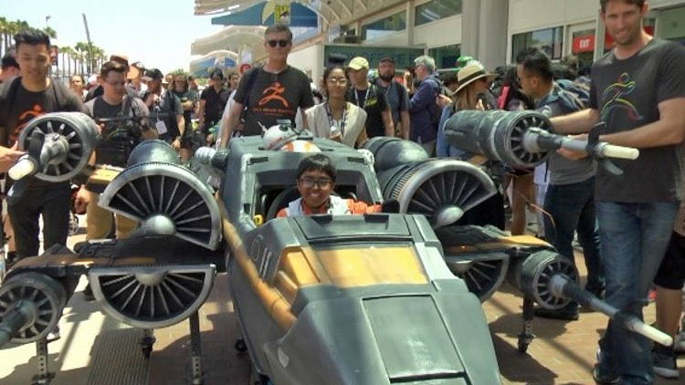 Massivit 3D Uses the Force of 3D Printing to Fulfil Teenager's Dream with a Star Wars X-Wing Fighter Wheelchair Costume.
