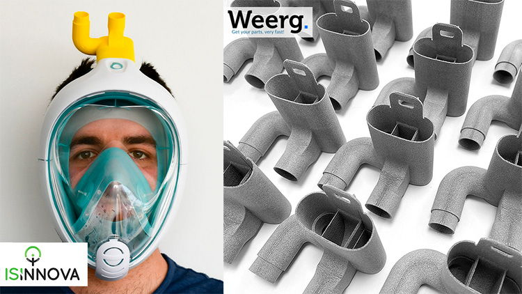 Weerg 3D prints the valves for emergency respiratory masks.