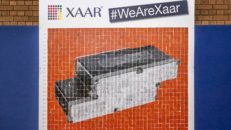 XXAR celebrates ground-breaking technology of its XAAR 5601 printhead.