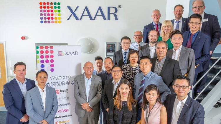 OEM visit strenghtens commitment to XAAR 1201 printhead in China.