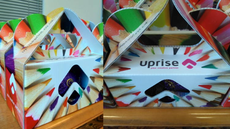 Uprise Print, based in Cardiff, created multicoloured gift boxes on its Zünd, perfect for Easter eggs.