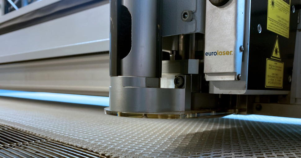 Recommended laser system for cutting of spacer fabrics: eurolaser XL-3200.
