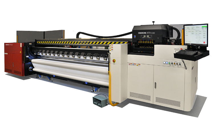 The Oberon RTR3300 will make its debut at the C!Print show (Lyon, France, 4-6 February 2020) and at FESPA (Madrid, Spain, 24-27 March 2020).