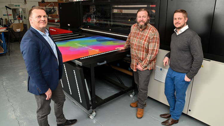 Agfa Jeti Tauro quadruples output for Harrogate printer.