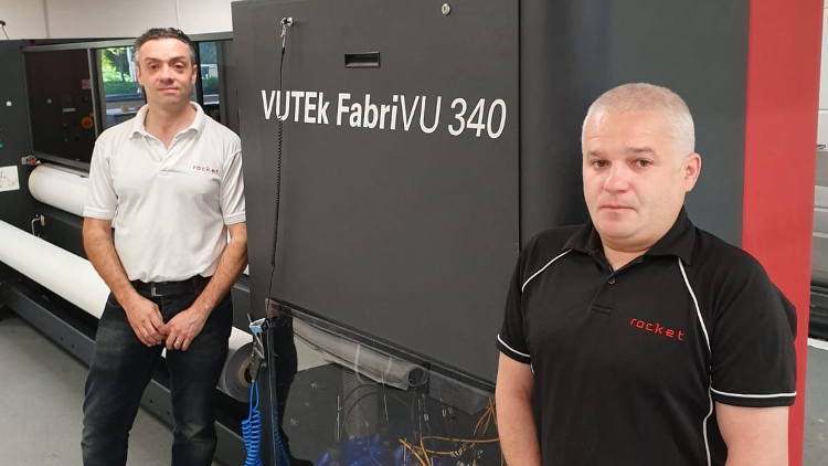 In the last 16 months alone CMYUK has supplied Rocket Graphics with an EFI VUTEk LX3 that replaced older EFI VUTEk machines.