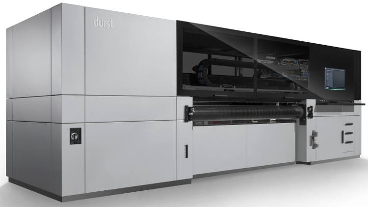 The Durst new P5 250 HS system – configured with white as a printing colour.