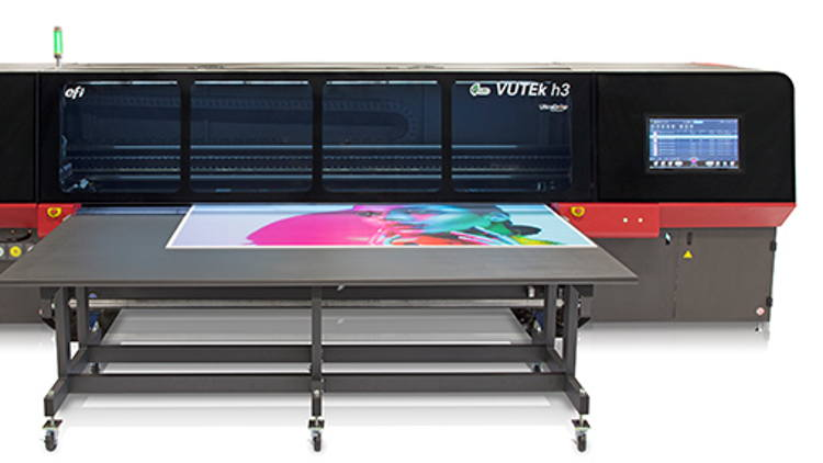 Quarmby Colour installs EFI VUTEk h3 LED Hybrid Printer for high-end quality and productivity.
