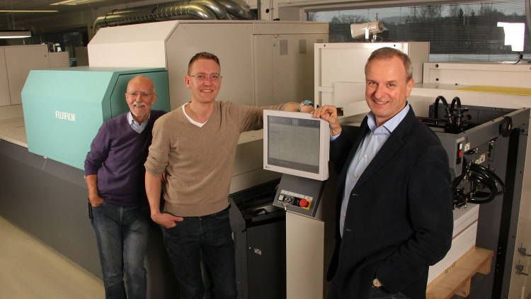 Peter Estermann and Michael Wachter first encountered Fujifilm's powerful, second generation B2 inkjet press in the spring of 2017.