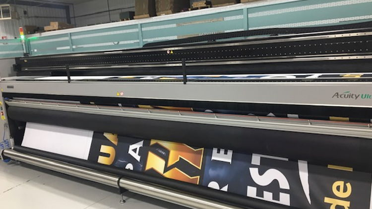 Newman Print expands productivity with installation of the 5 metre Acuity Ultra printer form Fujifilm.