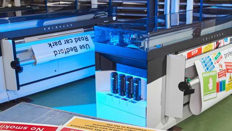 Canon to meet volume demands for Protect Safety Signs with two Océ Colorado 1640 printers.
