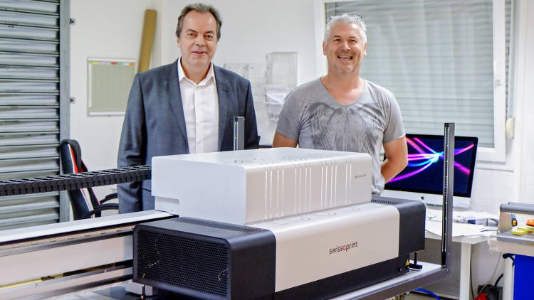 JPC Labo of Marly, France, took delivery of the 1000th swissQprint large format printer in May.