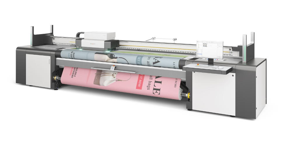 Reliable, congruent double-sided roll to roll printing. Automatically – with swissQprint Karibu.