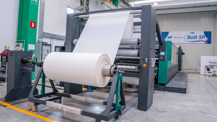 EFI Introduces Next-generation Single-pass Reggiani BOLT Textile Digital Printer.