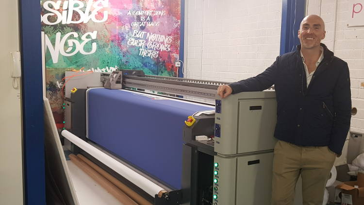 County Wicklow's Printroom has one supplier and one manufacturer when it comes to choosing materials for its digital textile printing.