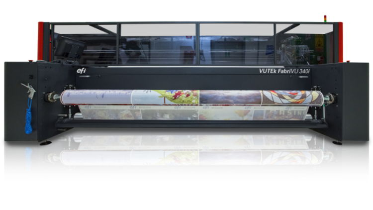 Kreativia expands service offering with EFI VUTEk FabriVU 340i dye-sublimation printer.