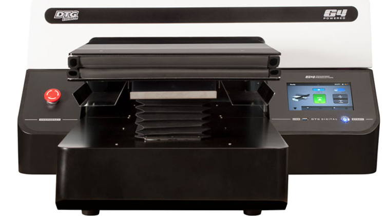 The DTG G4 is a true industrial print head direct to garment printer in a desktop format.
