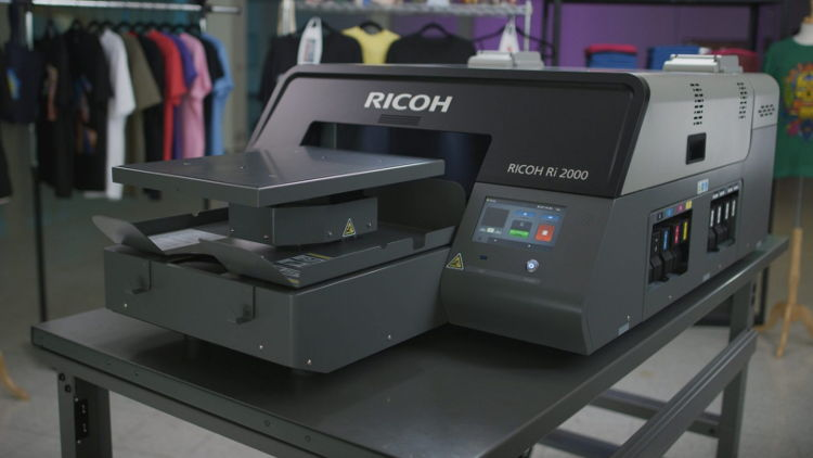 Ricoh next generation direct to garment technology offers productivity breakthrough.