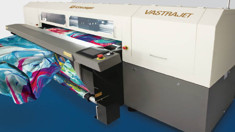 Colorjet to launch 16 head VastrajetR digital textile printer with AiST at ITMA 2019.