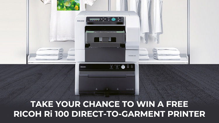 Ricoh launches competition to win a Ri 100 direct-to-garment printer.