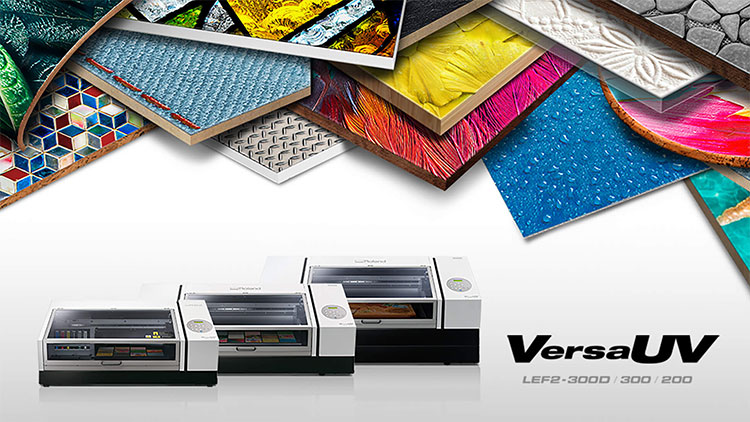 Roland DG announces two new products. The new VersaUV LEF2-300D has been introduced to enhance print possibilities.