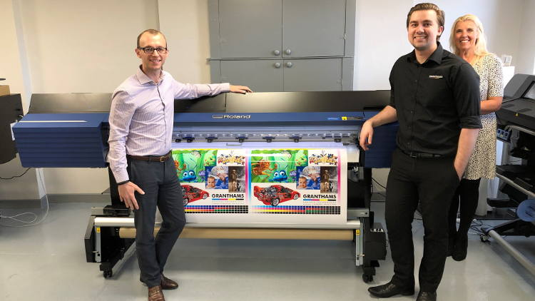Roland DG has appointed Granthams as a supplier for TrueVIS large-format printer/cutter solutions.