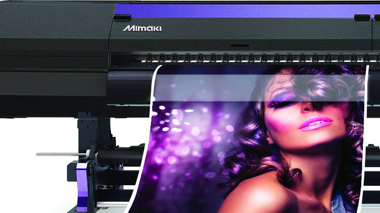 Hybrid launches new Mimaki SWJ-320EA super-wide solvent printer at The Print Show.