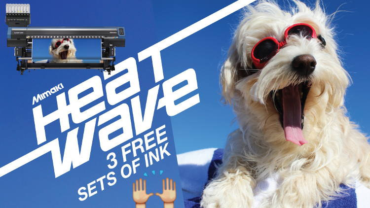 Mimaki's UK & Irish distributor has announced a further offer as part of its summer Heatwave promotion, giving away 3 free sets of ink with the Tx300P-1800.