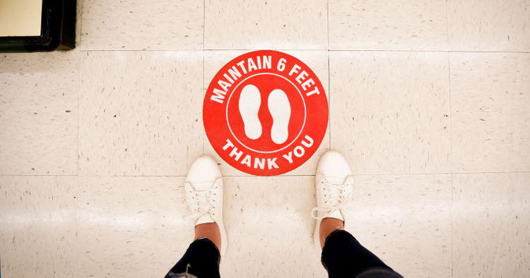Signage takes the floor – Is the opportunity for promotional floor graphics looking up as we all look down.