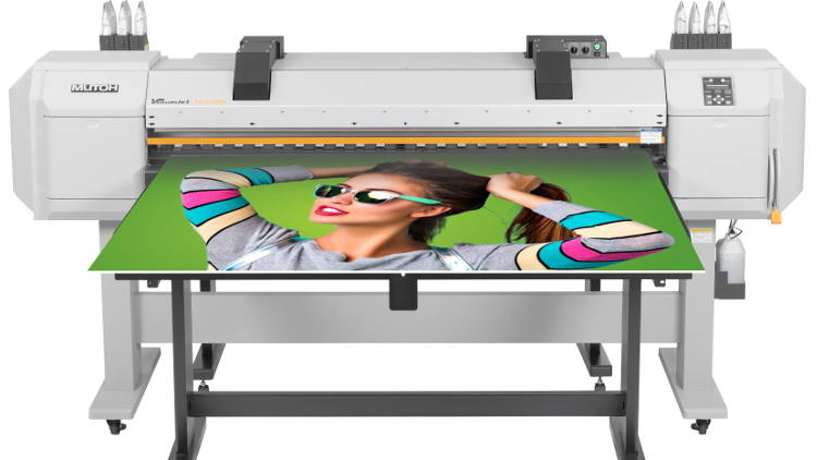 "Mutoh's affordable 64"" wide hot air hybrid inkjet printer featuring increased performance and widest substrate compatibility."