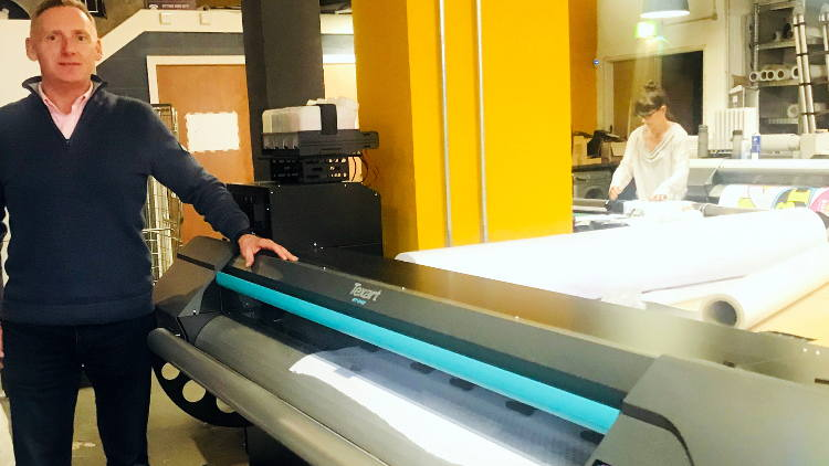 QPS installs UK's first Roland Texart RT-640M dye sublimation printer at Grangeprint.