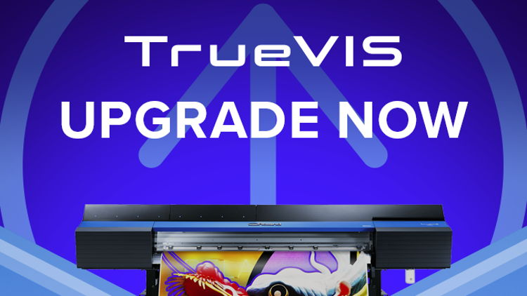 Roland DG TrueVIS upgrade delivers ink savings of up to 20%.