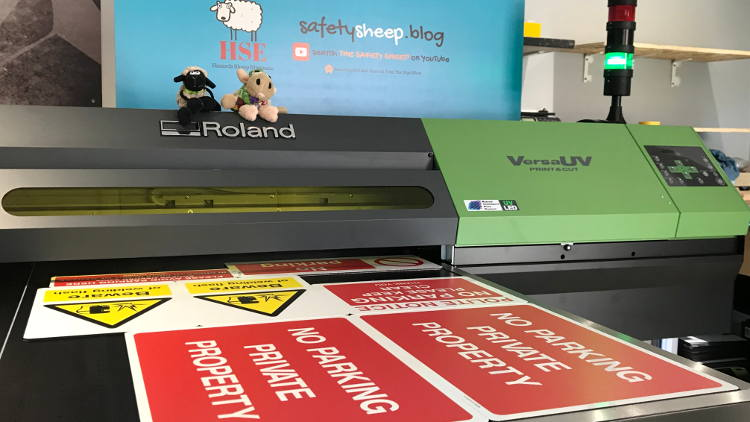 The Sign Shed expands with Roland S-Series – with help from the Safety Sheep.