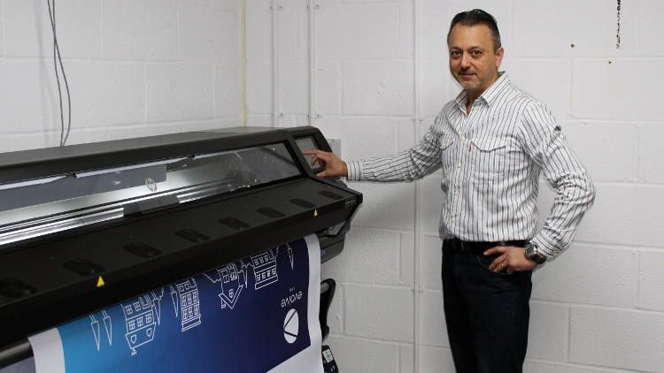 Phil Aliphon, purchased the HP Latex 365 printer to enable his business to broaden its offering and meet this growing demand.