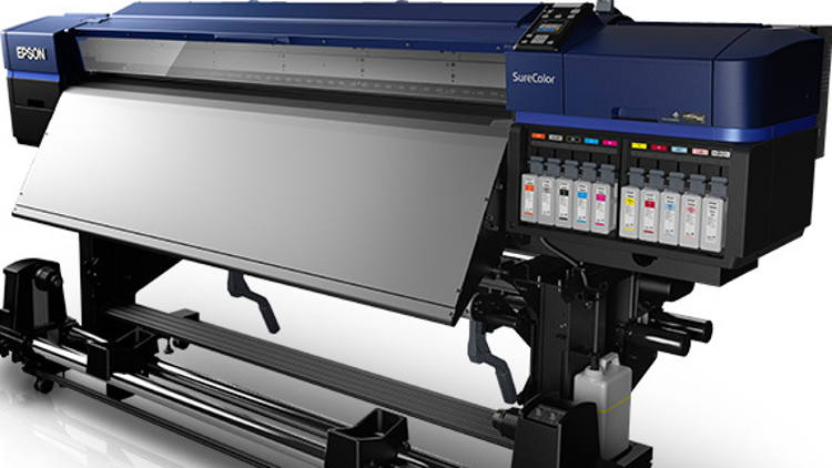Epson introduces first SureColor S-Series solvent printers with bulk ink system.