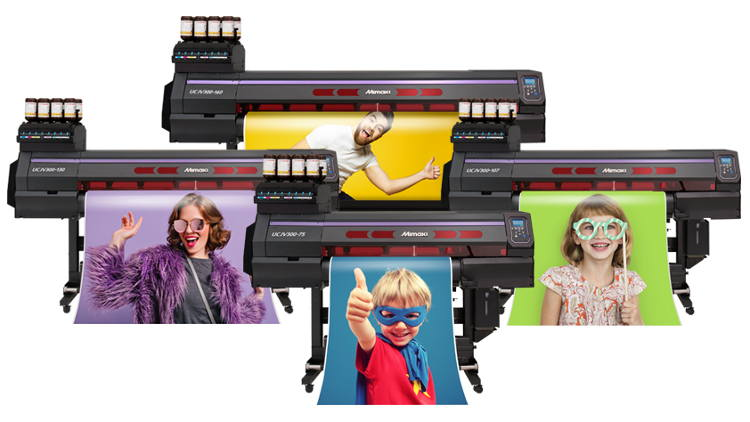 The new UCJV300 printers deliver a remarkable range of applications and versatility with four-layer printing in addition to five-layer printing capabilities.