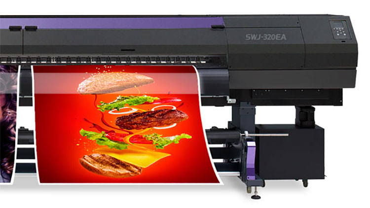 With the SWJ-320EA now available in EMEA, this cost-effective large format solvent printer can be seen in action this week at FESPA Africa 2019.