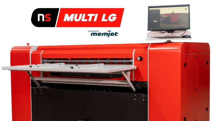 The first NS Multi LG digital printers for corrugated board and boxes roll off the manufacturing line in Europe.