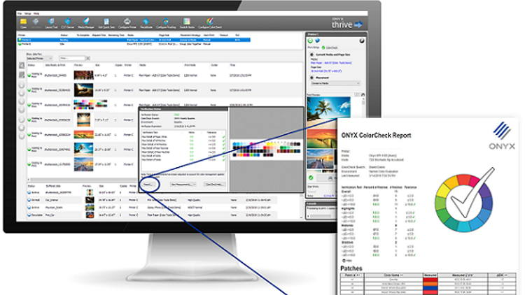 ColorCheck in ONYX software saves thousands in ink and media costs.