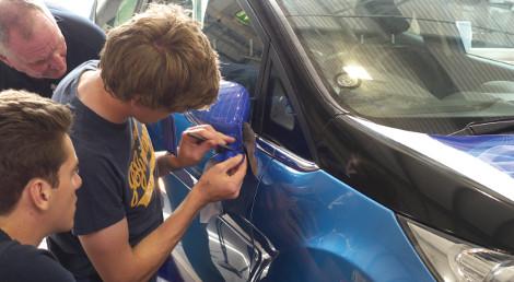 Mimaki Vehicle Wrap Lab puts motorsport students in pole