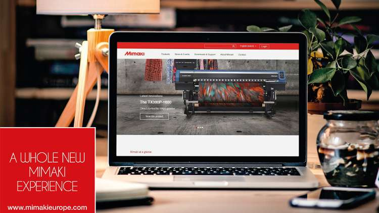 Mimaki's new website features more interactive and intuitive user experience and fresh corporate look.