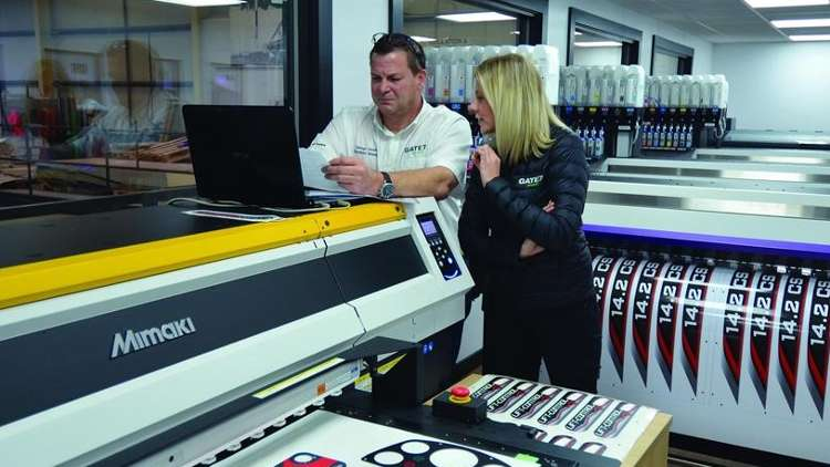 US-based Gate 7 LLC hosts an equally impressive line-up of Mimaki digital solutions with three Mimaki UJF-7151plus printers and eight JV300s.