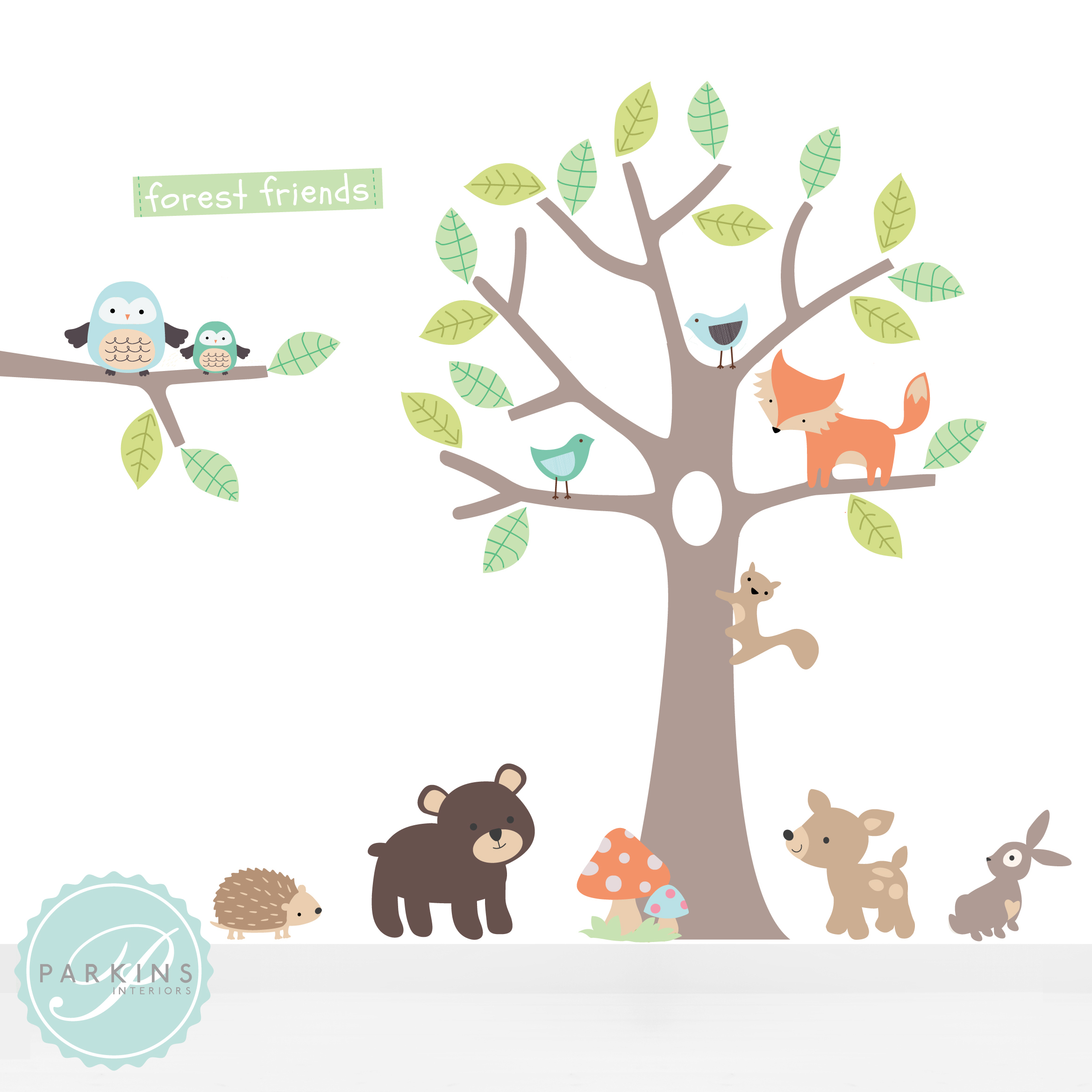 SMGG Parkins Interiors Pastel Forest Friends