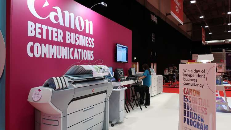 "Visitors to Canon's stand, G80, will see its latest innovation, the Océ Colorado 1640, the first 64"" UVgel roll-to-roll printer."