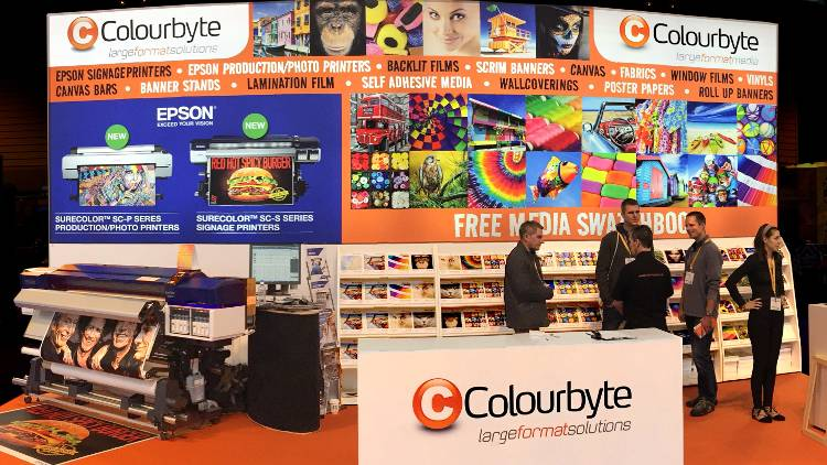 Colourbyte will show a range of Epson technologies and printed samples from its wide range of media.