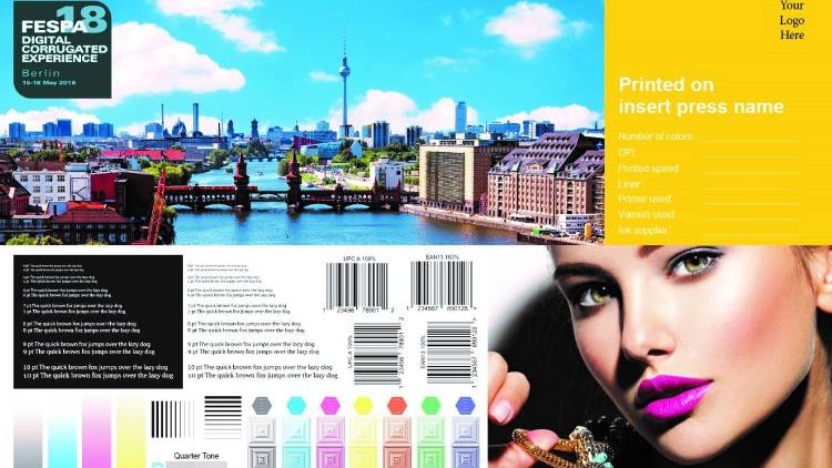 FESPA's Digital Corrugated Experience sample comparison print file.