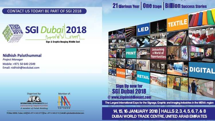 SGI Dubai 2018 is ideally positioned to drive this merging of technologies forward. Exhibitors from all over the world will present solutions for textile printing.